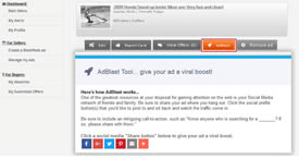 AdBlast helps give your ad a viral boost!
